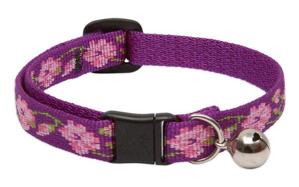 "Premium Safety Collar - Rose Garden, 8-12"" with bell"