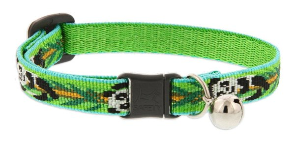 "Premium Safety Collar - Panda Land, 8-12"" with bell"