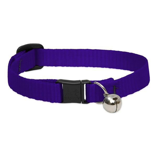 "Premium Safety Collar - Purple, 8-12"" with bell"