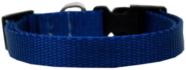 Plain Nylon Large Cat Collar Blue