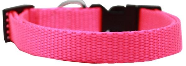 Plain Nylon Cat Safety Collar Hot Pink