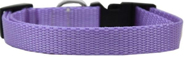 Plain Nylon Cat Safety Collar Lavender