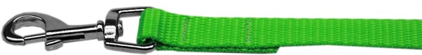 "Plain Nylon Leash 3/8"" by 6ft Hot Lime Green"