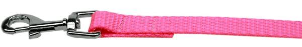 "Plain Nylon Leash 3/8"" by 6ft Hot Pink"
