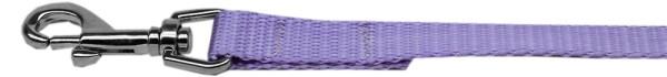 """Plain Nylon Leash 3/8"""" by 4ft Lavender"""