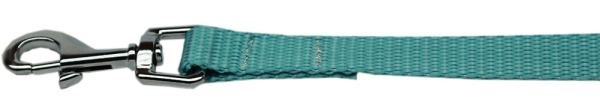 "Plain Nylon Leash 3/8"" by 6ft Ocean Blue"
