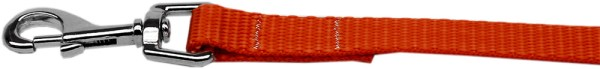 "Plain Nylon Leash 3/8"" by 4ft Orange"
