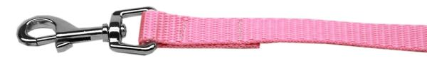 "Plain Nylon Leash 3/8"" by 6ft Pink"