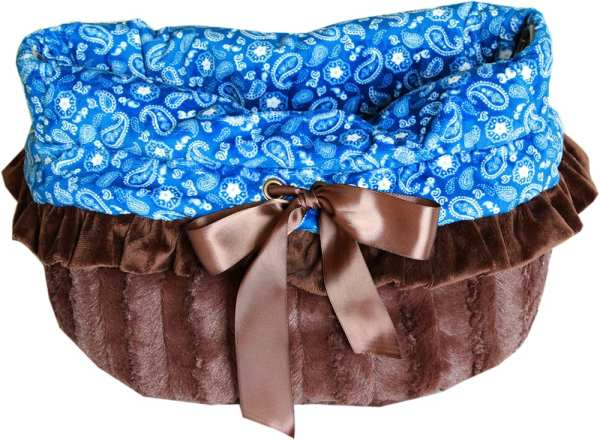 Blue Western Reversible Snuggle Bugs Pet Bed, Bag, and Car Seat All-in-One