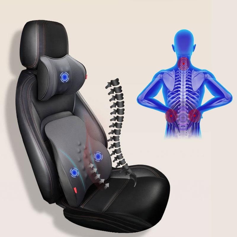 האוניברסלי 12V רכב חשמלי עיסוי משענת ראש/המותני כרית ראש איפוק להפחית עייפות צוואר מרגיע תמיכה אוטומטי אבזרים