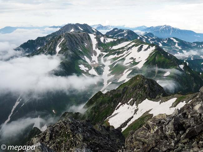 剱岳からの絶景
