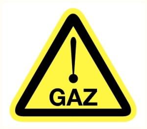 Danger risque de présence gaz