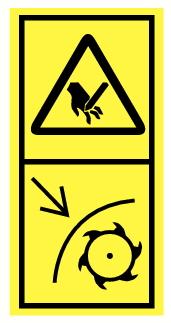 Danger de mutilation main