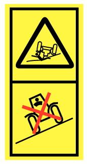 Danger de retournement et d'écrasement par véhicule