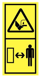 Danger d'écrasement et mutilation des pieds