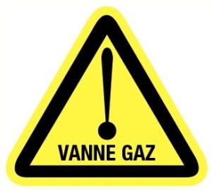 Danger vanne gaz