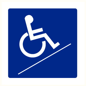 Rampe d'accès invalides
