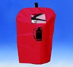Housse de protection avec fenêtre pour extincteur jusqu'à 6 kilos ou 6 litres