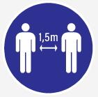 Veuillez respecter la distance entre personnes de 1,50 M