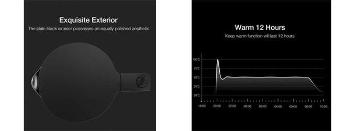 Hervidor de agua eléctrico Viomi a 27,19€ en Tomtop 2