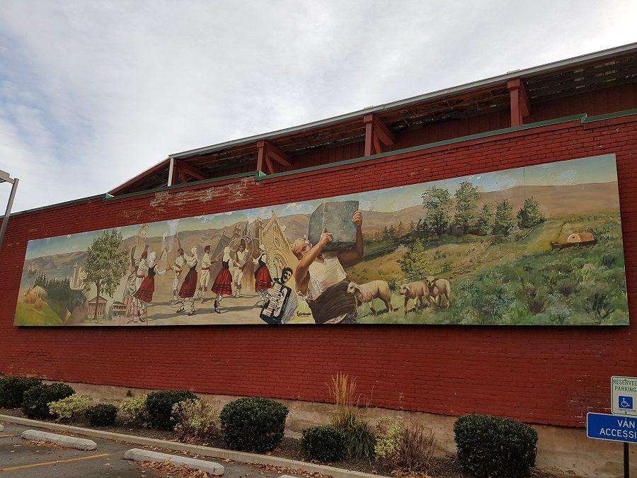Basque Block mural