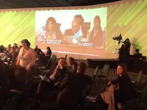 El ing. Temístocles Montás durante su intervención en la Cumbre G77 + China