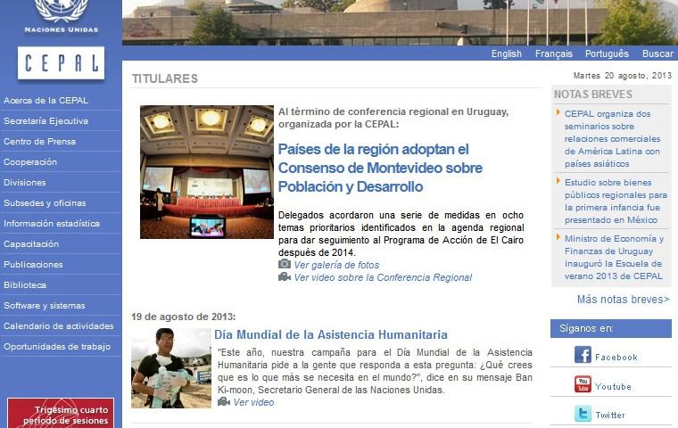 Comisión Económica para América Latina y el Caribe (CEPAL)