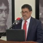 El director del Servicio Geológico Nacional, Santiago Muñoz Tapia, en el acto de entrega de los equipos donados por Japón a esa institución.