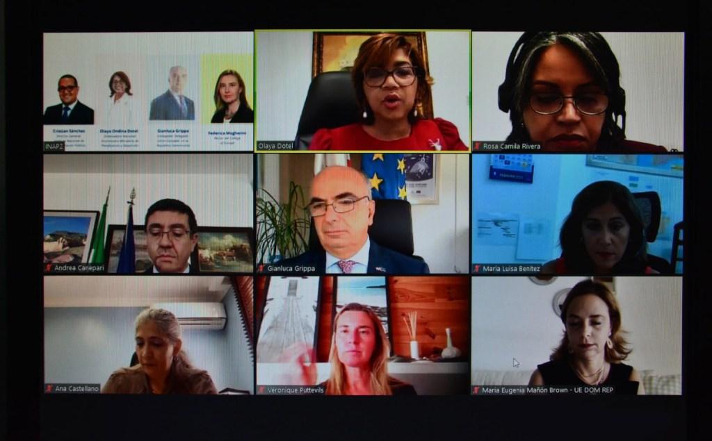 """Participantes en el cierre virtual del II diplomado de relaciones Dominico-Europeas""""."""