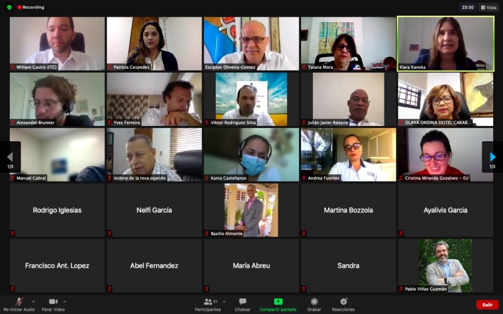 """Participantes del seminario virtual """"Producción Sostenible como Instrumento para Exportar y Competir"""""""