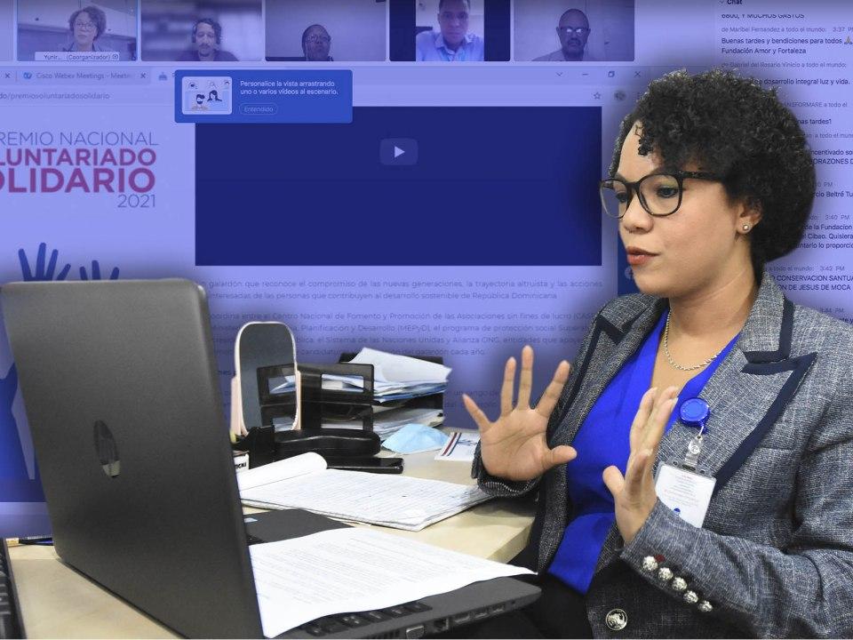 La especialista sectorial del CASFL, Yuniris Ramírez, en su participación en el espacio Diálogo Permanente con la Sociedad Civil que se realiza cada jueves a las 3:00 de la tarde de manera virtual.