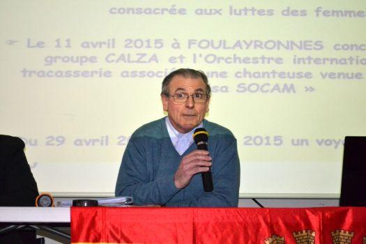 Le Président Alain MIRANDA-SAIZ à la tribune de l'Assemblée générale ordinaire de MER 47