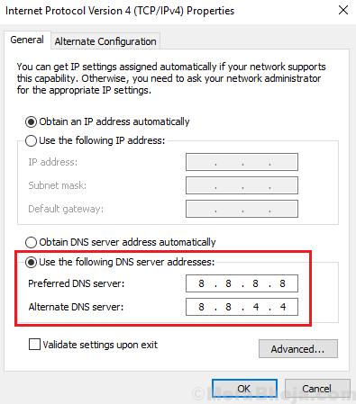 Google Dns Address