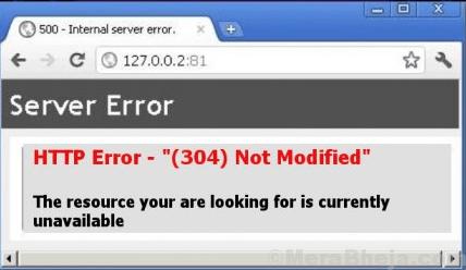 How To Fix HTTP ERROR 304 NOT MODIFIED ERROR