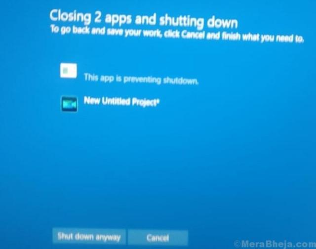 Shutdown Anyway Message Windows 10 Min