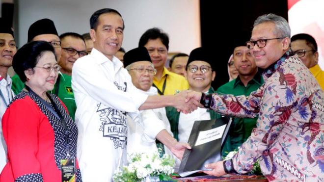 Presiden Jokowi dan KH Ma'ruf Amin