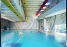 Tomie usou um painel com 1 500 metros de ferro pintado. Ele está no salão das piscinas do Sesc da Vila Mariana.