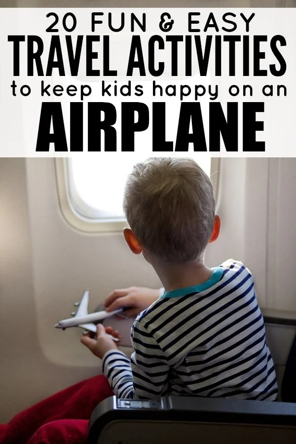 Traveling with children (especially toddlers!) is never easy, and if you are confined to a small airplane for hours on end, you are probably on the hunt for travel tips and ideas to keep your little ones occupied so you don't lose your mind. That's why we've compiled this list of 20 travel activities for kids! From busy bags to DIY fine motor activities to printable play doh mats, t's filled with great boredom busters to keep your children entertained for hours.