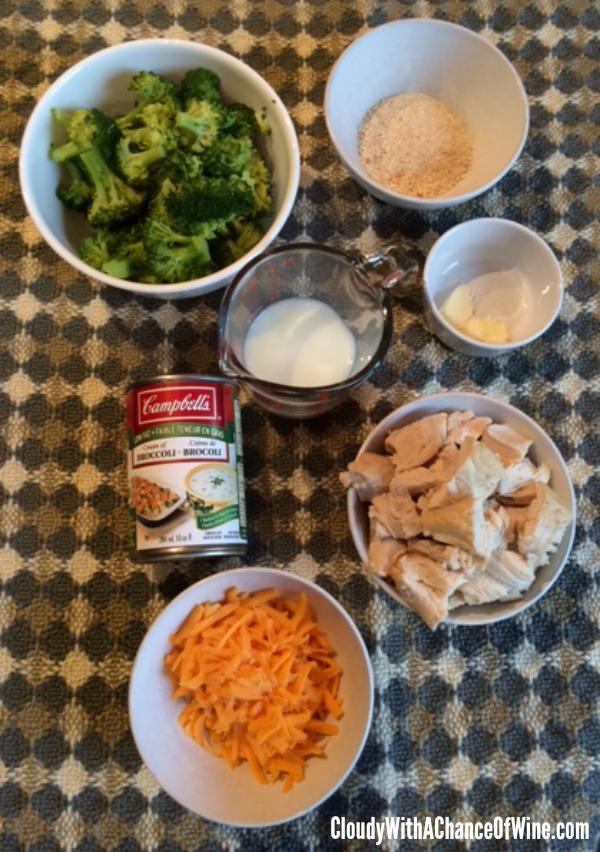 Chicken & Broccoli Divan Ingredients