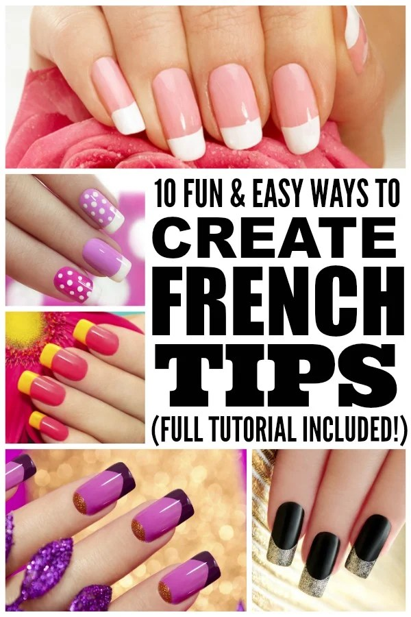 If you're a fan of French manicures, but don't have the time (or money!) to go to the salon every couple of weeks, check out this awesome tutorial to learn how to create 10 fun & easy French Tips from the comfort of your living room. You can use white nail polish for a more classic look, or try brighter colors if you prefer trendy nail art designs. Good luck!