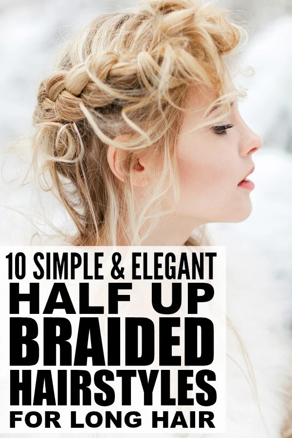 If you're tired of tying your long hair back into a ponytail or messy bun every morning, but still want to keep your locks out of your face, this collection of half up braided hairstyles for long hair is for you! These half up half down hairstyles are simple enough for a day at the beach, but elegant enough for a night out with your special someone. Full instructional tutorials included!