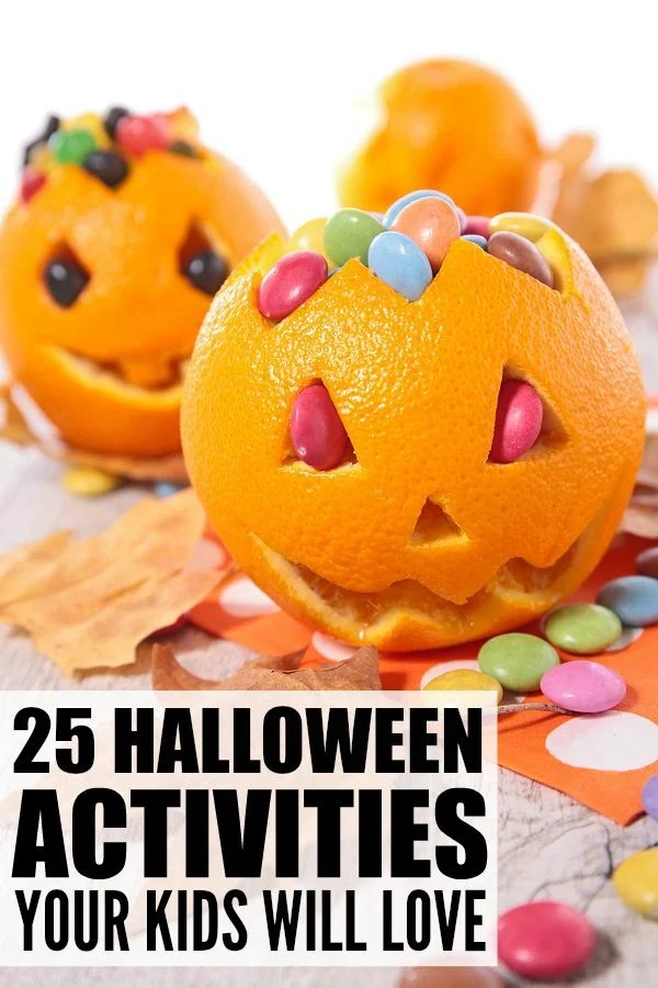 If you're looking for Halloween activities for kids, you've come to the right place! Whether you're the mom of toddlers or school-aged children, need games for a Halloween birthday party or just want ideas to making learning at home FUN, we've rounded up 25 of the best Halloween activities for kids. From play dough and sensory activities to Halloween bowling and a pumpkin ring toss, we've got all kinds of simple yet fun activities to make this the best Halloween for your children!