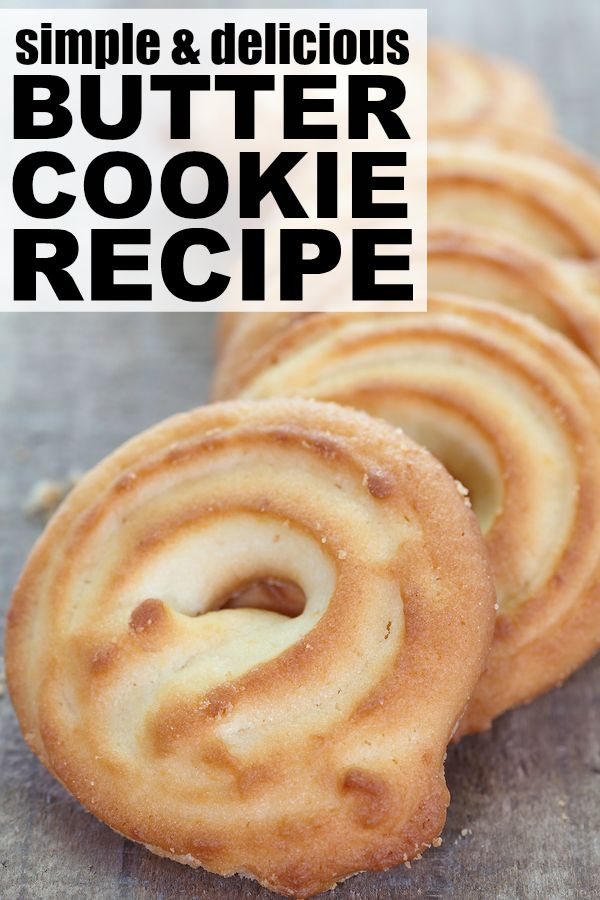If you love butter cookies as much as I do, you MUST give this simple and delicious butter cookie recipes a try. These cookies take next to no time to make, taste delicious, and make the perfect holiday treat or gift when celebrating with friends and family.