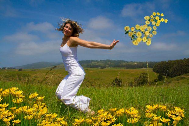 Reenactment of a Happy Woman #2. Digital photomontage.