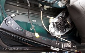 DIY Window Regulator Motor Replacement Repair C CLK E