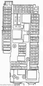 E Class W212 Fuse Box Location Chart Diagram