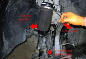 Mercedes Air Suspension Strut Airbag Replacement DIY – MB