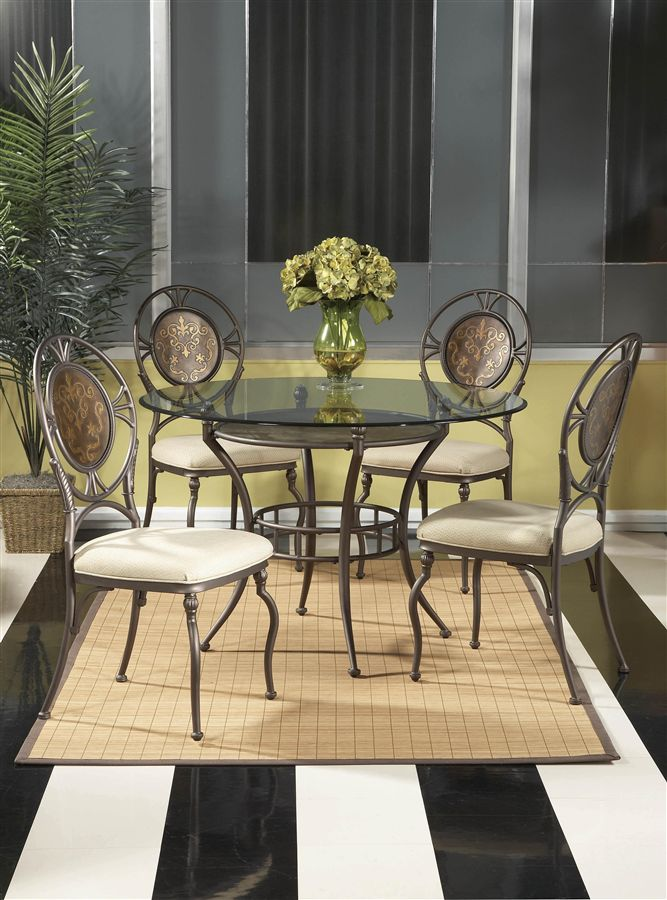 ROUND GLASS DINING TABLE AND CHAIRS Chair Pads Amp Cushions