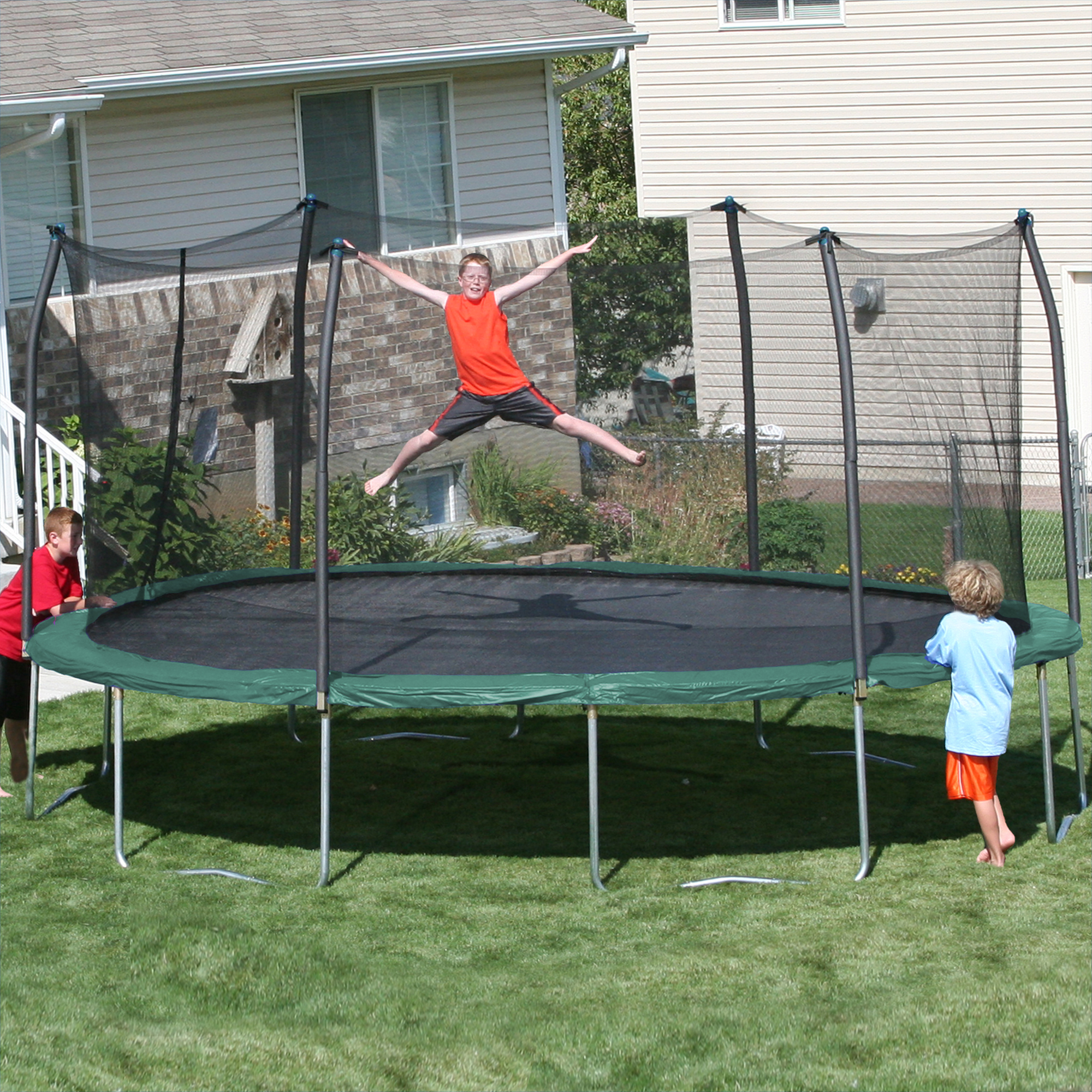 New Huge 15 X 17 Oval Trampoline Safety Net Enclosure: Myspace