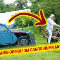 O homem que transformou um Citroën 2CV em uma mota para sobreviver no deserto